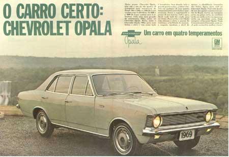 Em 19 de novembro de 1968 acontecia o lançamento do Chevrolet Opala.