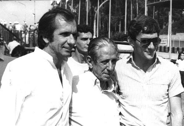 Emerson Fittipaldi, Chico Landi e Ayrton Senna