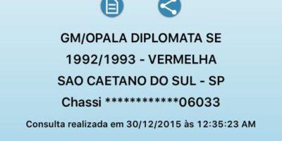 Existe Opala Diplomata 1993?