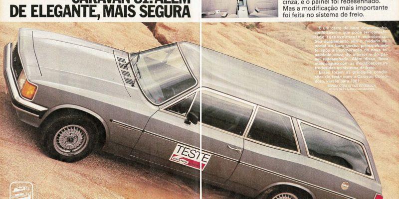 Teste da Caravan feito pela Quatro Rodas em 1981