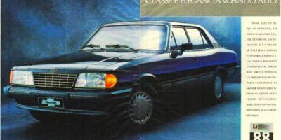 Linha Opala 1988 - Suas mudanças e o adeus a versão coupé.