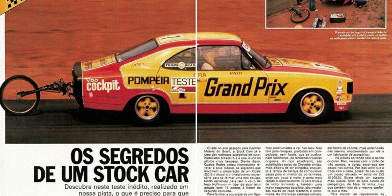 Os segredos de um Stock Car dos anos 80.