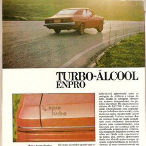 Opala 4 cilindros alcool Turbo montado pela Enpro em 1981