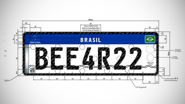 Conheça a nova placa brasileira apresentada pelo Denatran para 2016