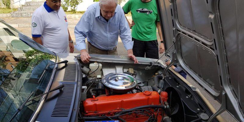 Homenagem do Clube do Opala de São Paulo ao criador do motor 250-S, o Engenheiro Roberto Beccardi